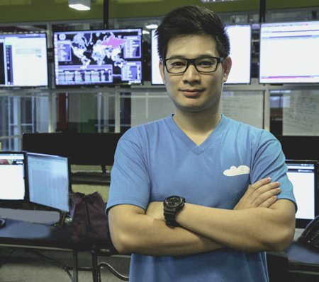 a man working at the network operations center